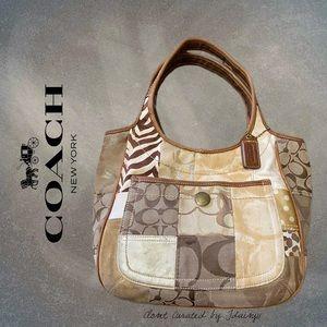 Coach | Ergo Beige Patchwork Hobo Handbag #1